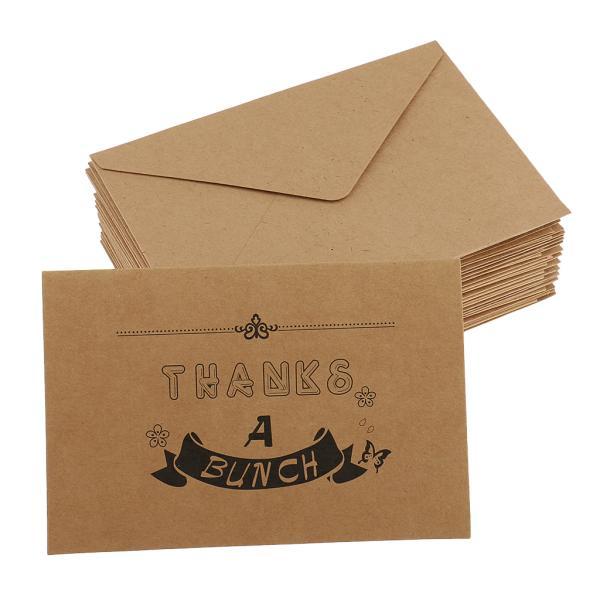 20pcsクラフト紙ありがとうメモリアルカード封筒のクリスマス挨拶#1