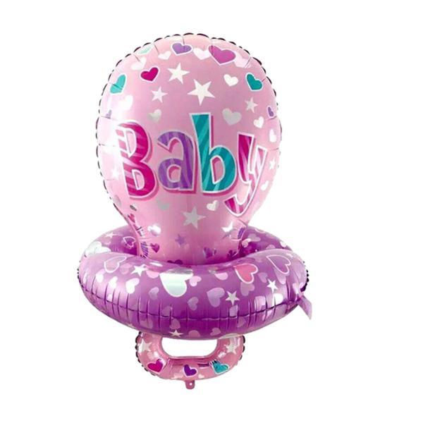 ホイル製 風船 バルーン おしゃぶり デザイン 赤ちゃんのシャワー 可愛い インテリア 全2色 - ピンク