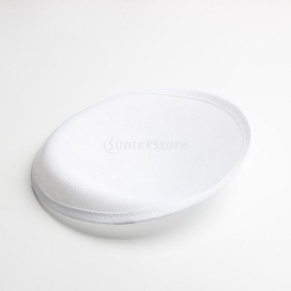 Kesoto 帽子ベース ハットベース ハンドメイド 手作り 帽子用 ハット ベース ラウンド型 DIY 帽子 女性 パーティー ヘッドピース 4色選べる - 白
