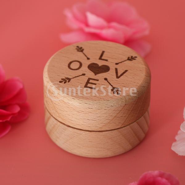 FLAMEER 結婚指輪 ベアラーボックス 木製ケース?? ジュエリー リングホルダー 2タイプ選べ - LOVE