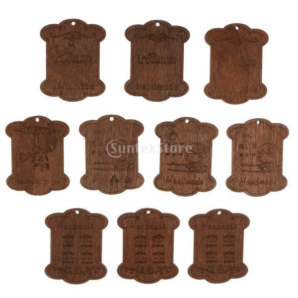 セット 木製 詰め合わせ 裁縫道具 糸ボビン - 5.5*4.4*0.3CM|stk-shop