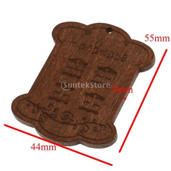 セット 木製 詰め合わせ 裁縫道具 糸ボビン - 5.5*4.4*0.3CM|stk-shop|02