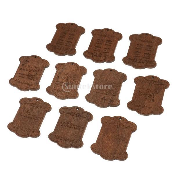 セット 木製 詰め合わせ 裁縫道具 糸ボビン - 5.5*4.4*0.3CM|stk-shop|12