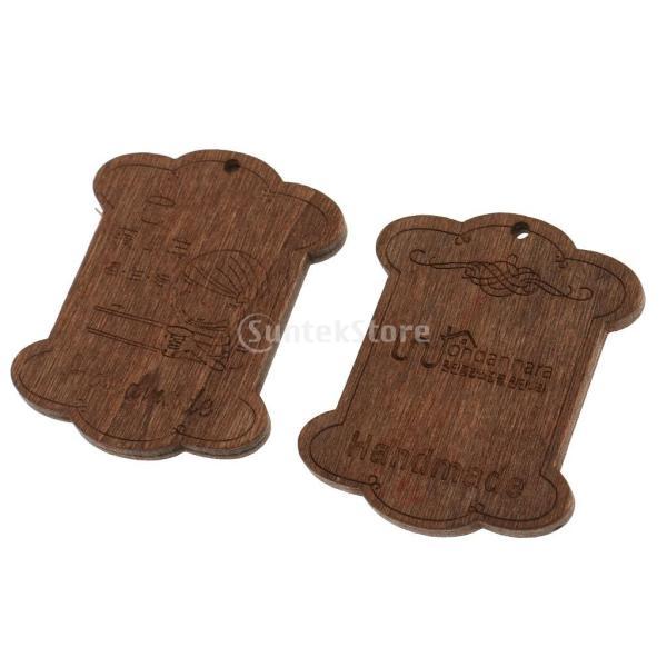 セット 木製 詰め合わせ 裁縫道具 糸ボビン - 5.5*4.4*0.3CM|stk-shop|03