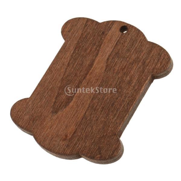 セット 木製 詰め合わせ 裁縫道具 糸ボビン - 5.5*4.4*0.3CM|stk-shop|06