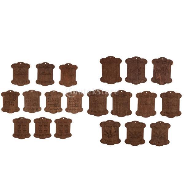 セット 木製 詰め合わせ 裁縫道具 糸ボビン - 5.5*4.4*0.3CM|stk-shop|07