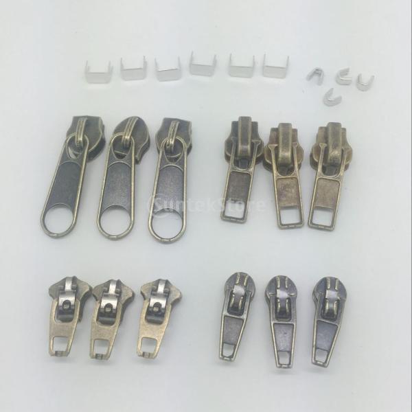 縫製用 22個/セット 交換用ファスナー  修理キット  ジップ 止めスライダー stk-shop 02