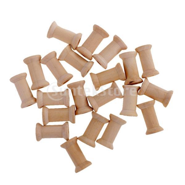 ウッド  空の糸スプール 約20個 縫い目 ビンテージ スレッド整理 縫製ツール