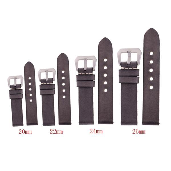 Baoblaze 全4サイズ 時計アクセサリー 腕時計バンド ウオッチストラップ 交換用ベルト グレー - 22mm