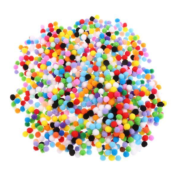 DIYクラフト10 mmの1000ピース盛り合わせ色フェルトボールポンポンボール