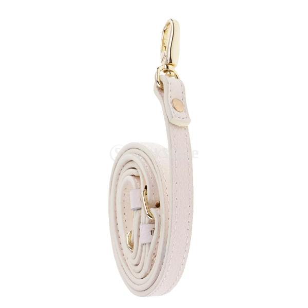 レザーショルダーバッグ調節 ストラップクロスハンドバックボディバッグ全5色選べ-ホワイト,110-130cm