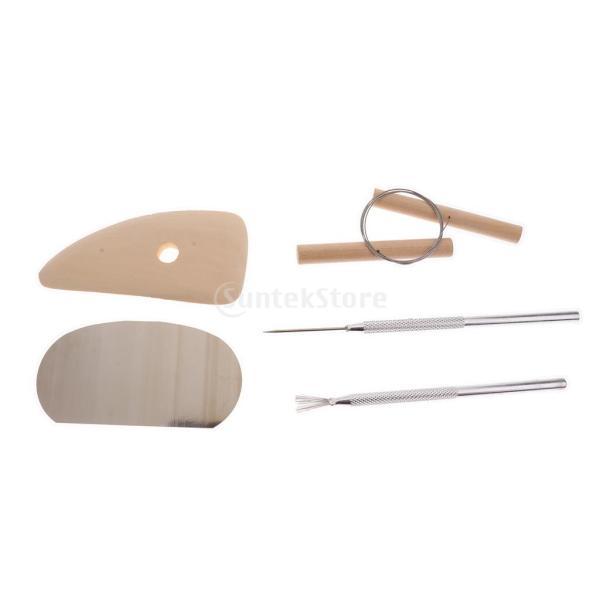 Fityle 2セット選べ DIYツール 粘土彫刻セット シェイパー ポリマーモデリング ワックス 作業道具 彫刻陶器ツール  - 19個セット|stk-shop|05