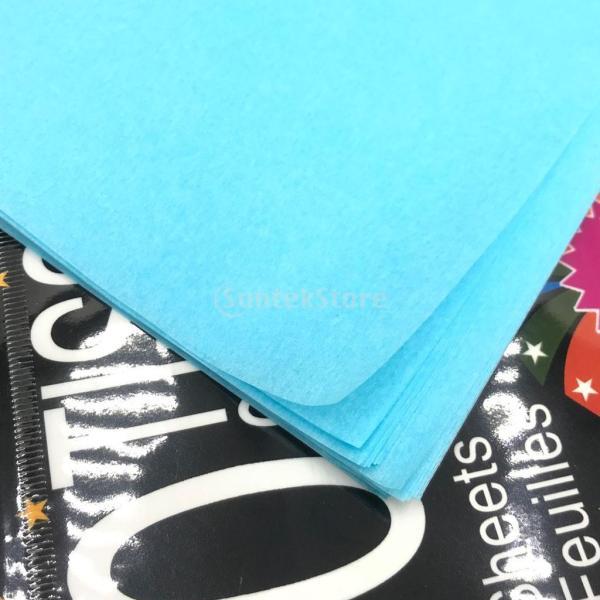 ペーパー フラワーラッピング紙 50x50cm 結婚式、ベビーシャワー、パーティー 飾り用 50x50cm 10枚入り 多色可選 - レイクブルー stk-shop 04