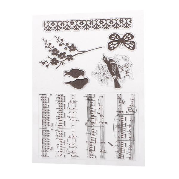 Scrapbooking DIYのアルバムカードのためのシリコーンクリアラバースタンプ|stk-shop|21