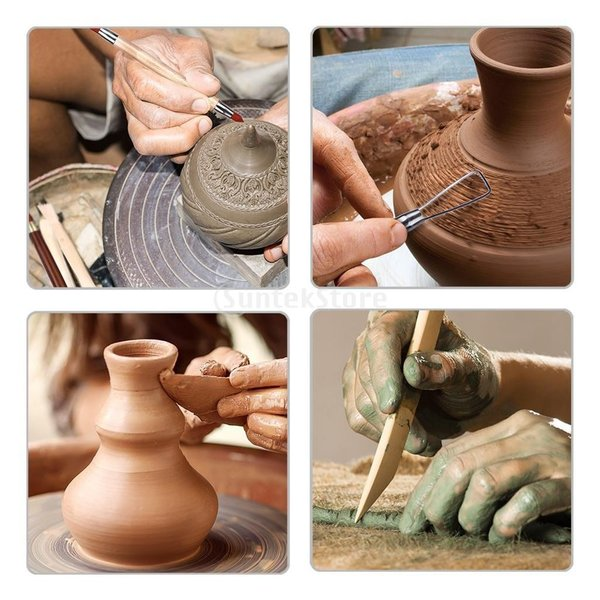 Fityle ネイルアートツール クレイ 彫刻 工芸 陶器 約18個セット|stk-shop|09