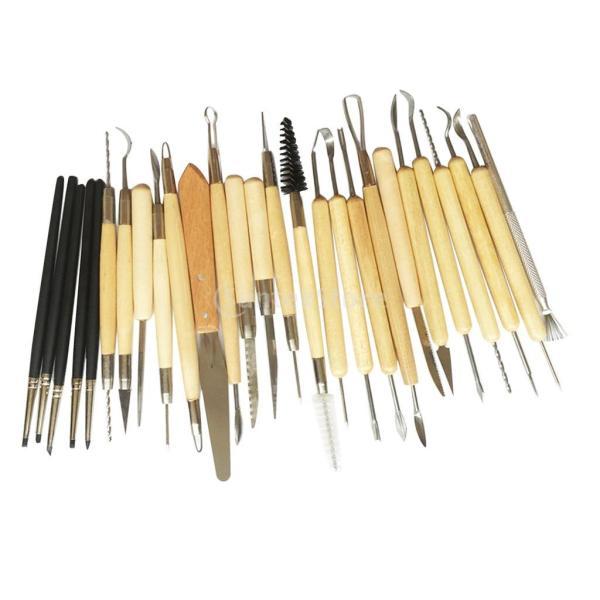 Fenteer クレイツール 彫塑 工芸 ツール 粘土 軽量で 彫刻 約27個セット|stk-shop|03