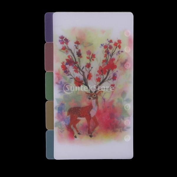 インデックス 仕切カード プラスチック プランナー ノート エレガント 5個入り 全4スタイル - スタイル4|stk-shop|11