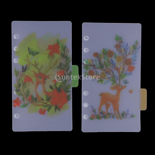 インデックス 仕切カード プラスチック プランナー ノート エレガント 5個入り 全4スタイル - スタイル4|stk-shop|12