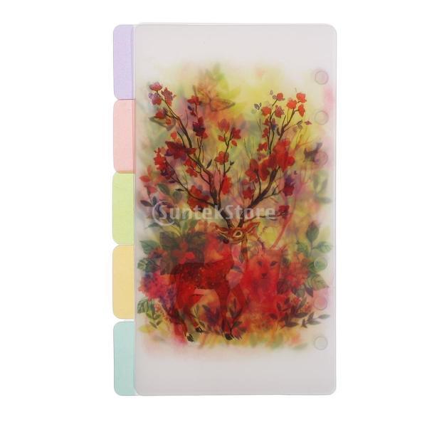 インデックス 仕切カード プラスチック プランナー ノート エレガント 5個入り 全4スタイル - スタイル4|stk-shop|13