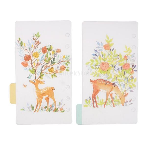 インデックス 仕切カード プラスチック プランナー ノート エレガント 5個入り 全4スタイル - スタイル4|stk-shop|14