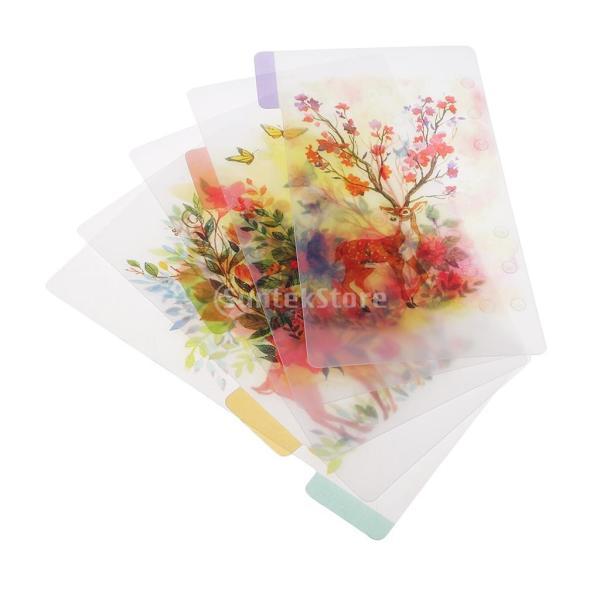 インデックス 仕切カード プラスチック プランナー ノート エレガント 5個入り 全4スタイル - スタイル4|stk-shop|04