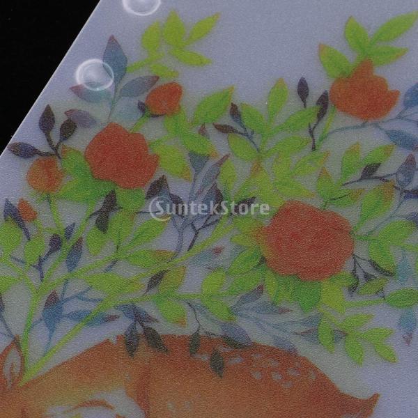 インデックス 仕切カード プラスチック プランナー ノート エレガント 5個入り 全4スタイル - スタイル4|stk-shop|05