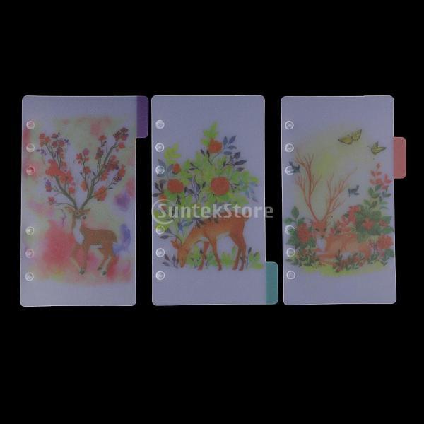 インデックス 仕切カード プラスチック プランナー ノート エレガント 5個入り 全4スタイル - スタイル4|stk-shop|06