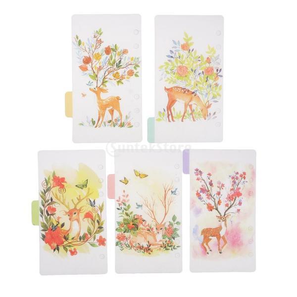 インデックス 仕切カード プラスチック プランナー ノート エレガント 5個入り 全4スタイル - スタイル4|stk-shop|07