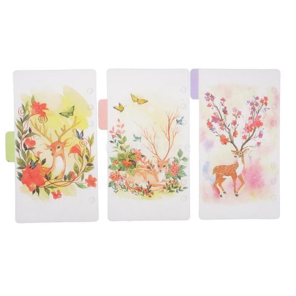 インデックス 仕切カード プラスチック プランナー ノート エレガント 5個入り 全4スタイル - スタイル4|stk-shop|08
