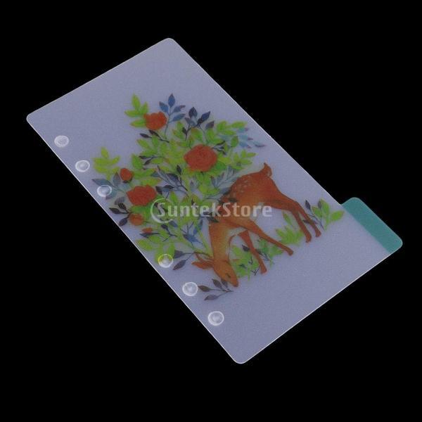 インデックス 仕切カード プラスチック プランナー ノート エレガント 5個入り 全4スタイル - スタイル4|stk-shop|09