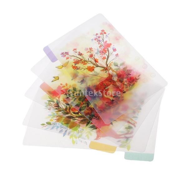 インデックス 仕切カード プラスチック プランナー ノート エレガント 5個入り 全4スタイル - スタイル4|stk-shop|10