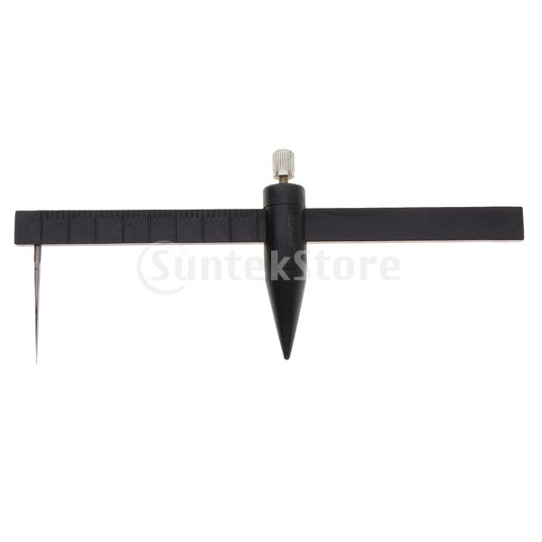 セラミック陶器コンパスサークルカッター測定定規キャリパー1cm-34cmブラック
