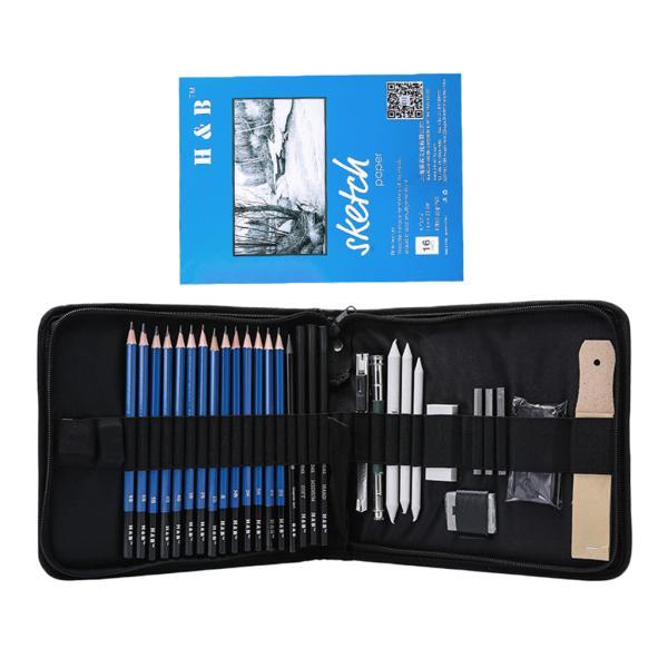約35個セット 色鉛筆 水彩 絵の具 アート鉛筆 消しゴム 鉛筆削り 学習教材 絵具 絵画用品 描画ツール