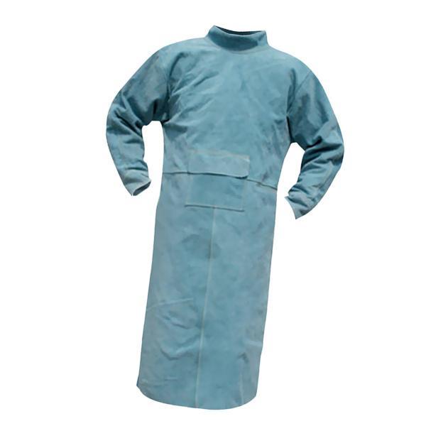 溶接保護ジャケット 作業服 溶接用 エプロン 保護 カバー 耐久性 機敏性 耐磨耗性 高品質 安全 全4サイズ2色選べ - 110cm 青 stk-shop