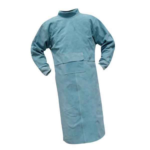 溶接保護ジャケット 作業服 溶接用 エプロン 保護 カバー 耐久性 機敏性 耐磨耗性 高品質 安全 全4サイズ2色選べ - 110cm 青 stk-shop 03