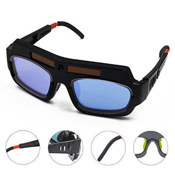 高品質 溶接メガネ 太陽光発電 自動暗色化 自動遮光  耐摩耗性 溶接メガネ 耐久性 保護装置