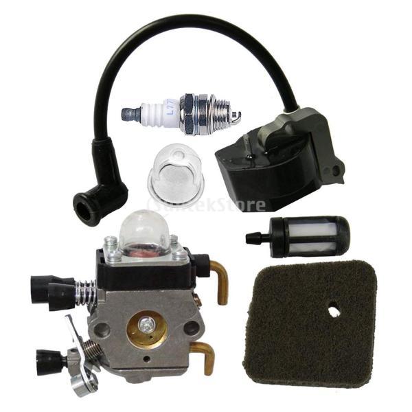 キャブレター イグニッションコイル STIHL FS38 FS55 FC55 FS45 FS適用 燃料フィルター エアフィルタ