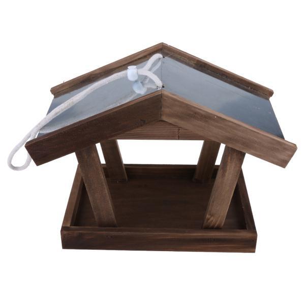 野鳥用 餌台 餌入れ バードフィーダー 防水屋根 木製 鳥 ペット フィーダー