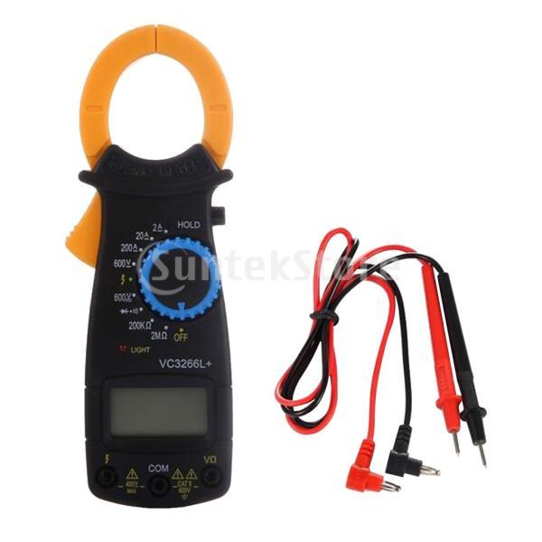 多機能クランプメーターACDC電圧電流計デジタルLCDマルチメーターコンパクト