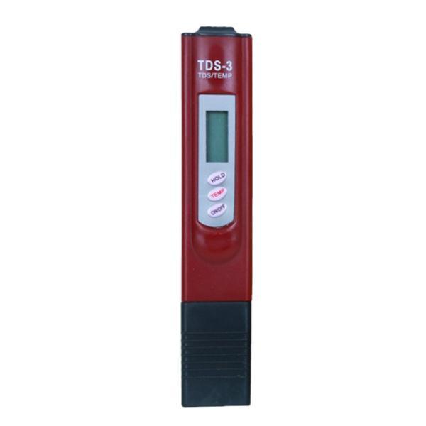 水純度テスター水質TDSテスター0-9990ppm測定範囲 - ワインレッド, 15 x 3 x 2cm