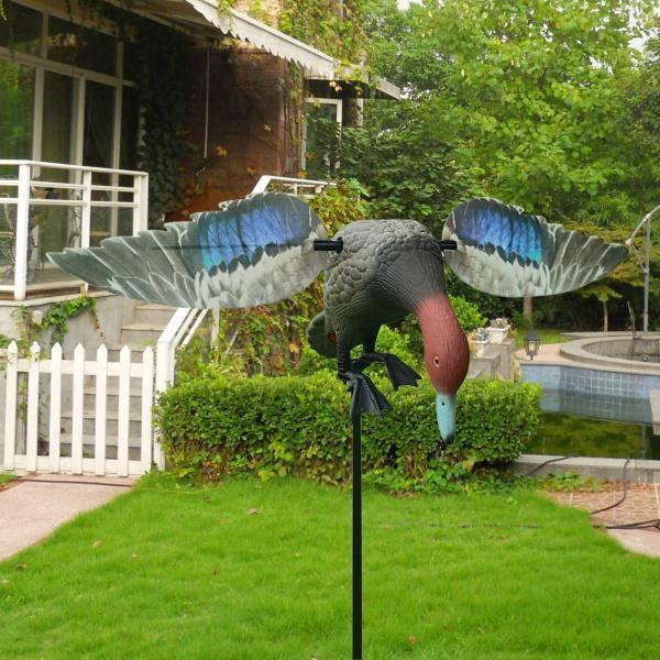 のリアルなアヒルの狩猟鳥の恐怖忌避剤おとり像ガーデン装飾的なかかしの恐怖者屋外3Dドレイクダック害虫ヘルプ
