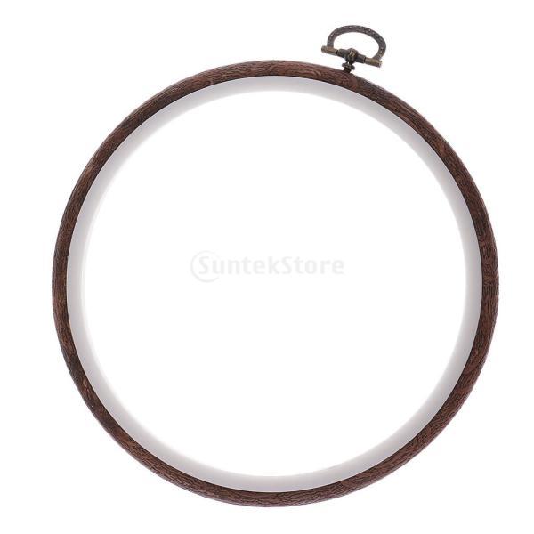 木製 刺しゅう枠 刺繍フープ リング クロスステッチ 円フレーム 縫製工具 全4サイズ - 内径15cm