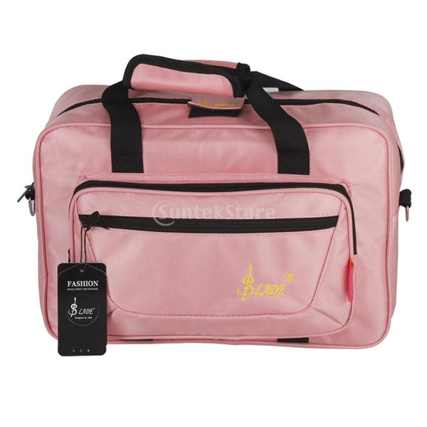 耐水性 ギグバッグ オックスフォードクロス キャリーバッグ クラリネット オーボエ用 キャリングバッグ 調整可能 全3色 - ピンク
