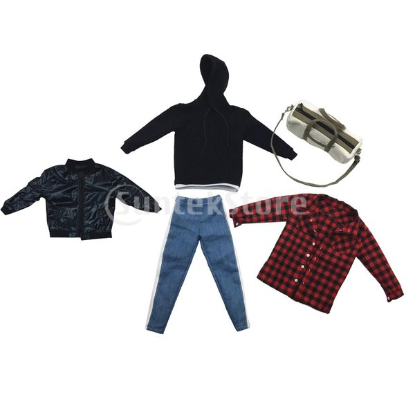 人形服スーツジャケットパーカーシャツパンツケン人形アクションフィギュア|stk-shop|03