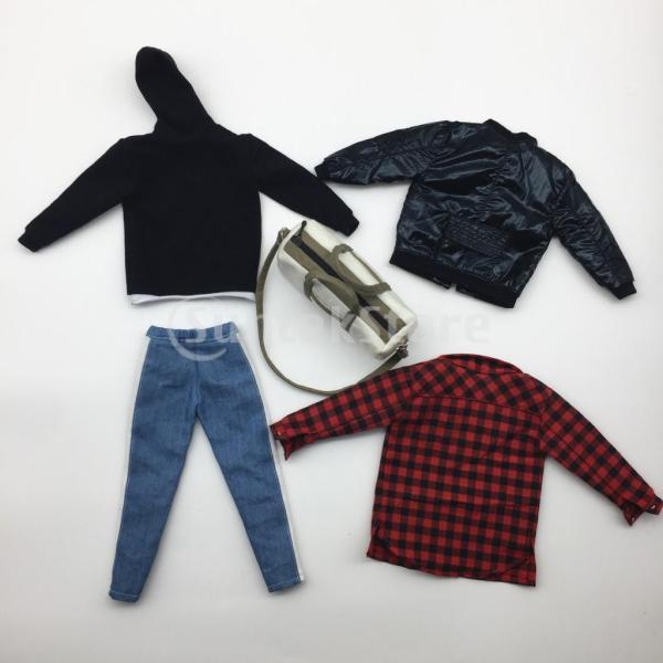 人形服スーツジャケットパーカーシャツパンツケン人形アクションフィギュア|stk-shop|05