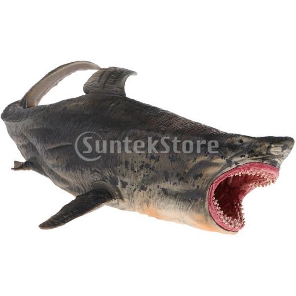 動物モデルプラスチックフィギュア家の装飾装飾品置物全12種類-サメ