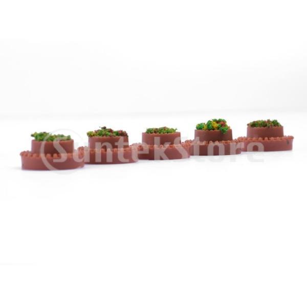 5枚 花壇モデル プラスチック 円形 ドールハウス飾り ミニチュア 装飾 ジオラマ 小道具 贈り物