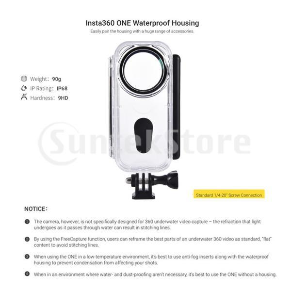Insta360 One Xカメラ用防水ハウジングシェル保護ケース|stk-shop|08