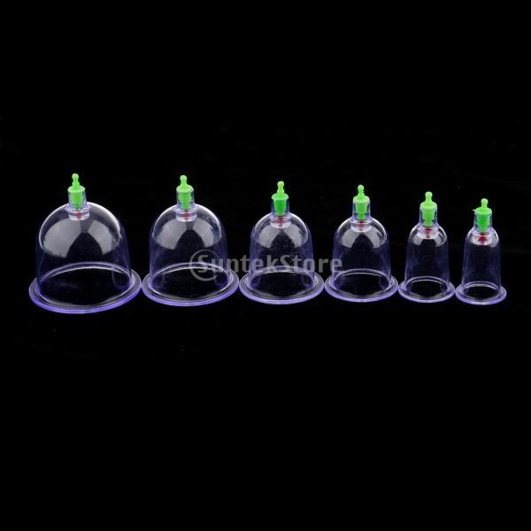 カッピング 吸い玉 真空 中国式療法 マッサージ 痛み緩和 12個入 セラピーセット |stk-shop|12