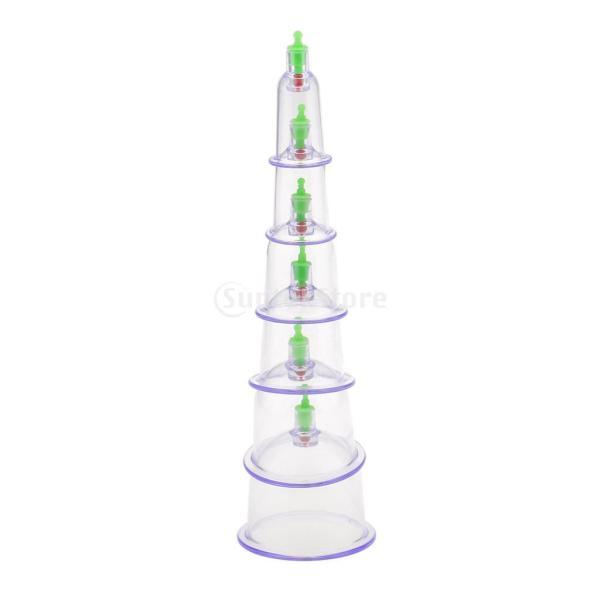 カッピング 6個 真空ポンプ 吸玉療法 マッサージ セラピーセット 漢方 |stk-shop|03